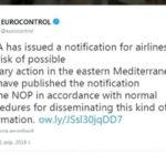 EASA рекомендовало авиакомпаниям усилить контроль за полетами вблизи Сирии